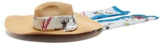 Filù Hats Filu Hats - Mauritius Wide Brim Straw Hat - Womens - Blue