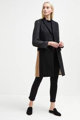 French Connenction Platform Felt Colour Block Coat