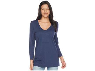 Lilla P 3/4 Sleeve Tunic Women's Blouse