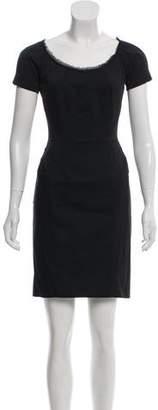 Zac Posen Short Sleeve Mini Dress