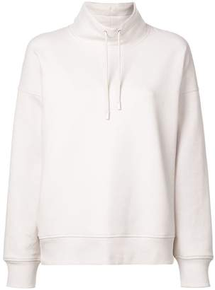 Vince drawstring high neck sweatshirt