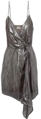 CAMI NYC The Tori Twist-front Silk-blend Lame Mini Dress