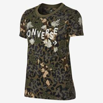 Converse Floral Animal Crew Womens Camo T-Shirt