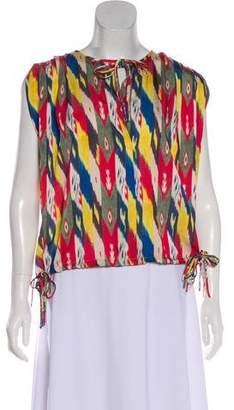 Etoile Isabel Marant Abstract Print Sleeveless Top