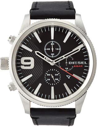 Diesel DZ4444 Silver-Tone & Black Watch