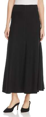 Donna Karan Sweater-Knit Flounce Maxi Skirt