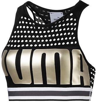 Puma Mesh High Neck Mid-Impact Sports Bra