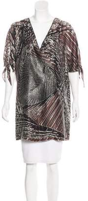 Halston Printed Silk Tunic