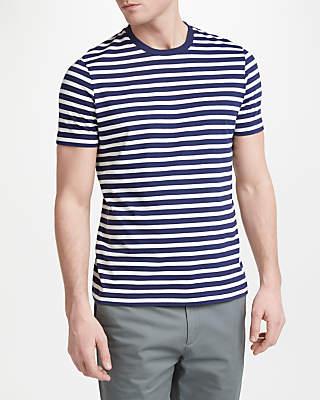 John Lewis & Partners Breton Stripe T-Shirt, Navy