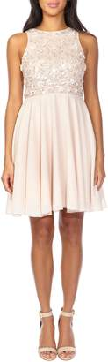 Lace & Beads Hazel Paillette Bodice Skater Party Dress