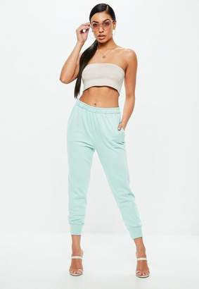 Missguided Green Twisted Seam Clean Joggers