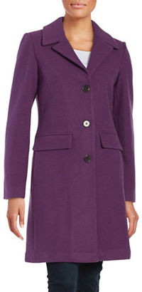 1 Madison Wool-Blend Button-Front Coat $280 thestylecure.com