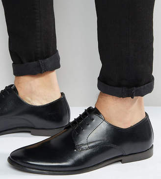Asos Design Wide Fit Derby Shoes in Leather