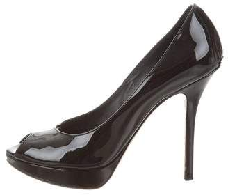 Christian Dior Peep-Toe Platform Pumps