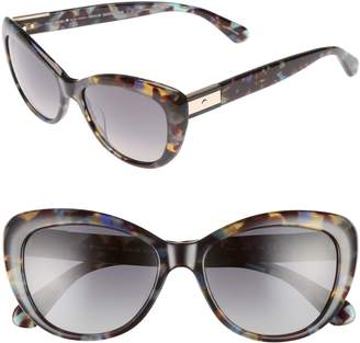 Kate Spade Emmalyn 54mm Polarized Cat Eye Sunglasses