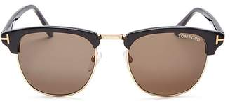 Tom Ford Henry Square Sunglasses, 51mm $415 thestylecure.com