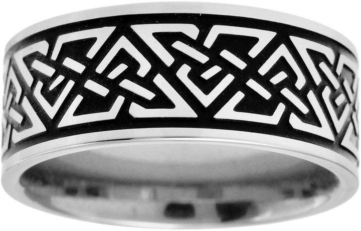 Celtic SheepskinFINE JEWELRY Mens 9mm Stainless Steel Celtic Knot Ring