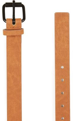 Washed Tan Faux Suede Belt $25 thestylecure.com