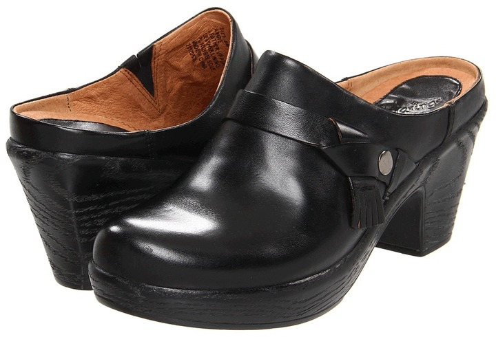 Klogs USA Angie (Black Leather) - Footwear