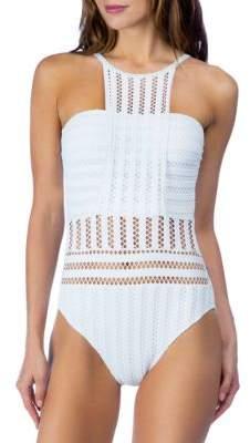 Kenneth Cole New York Tough Luxe One-Piece High-Neck Mio Bikini