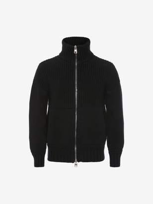 Alexander McQueen Chunky-Knit Zipped Sweater