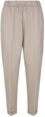 Fabiana Filippi Elasticated Straight-Fit Trousers