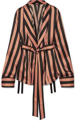 Ann Demeulemeester Striped Silk-satin Jacket