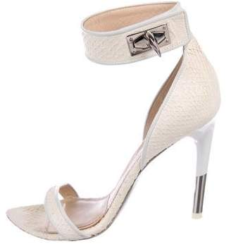 Givenchy Snakeskin Shark Tooth Sandals