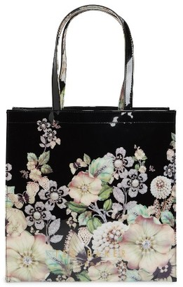 Ted Baker London Gem Garden Large Icon Tote - Black $59 thestylecure.com
