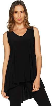 Women With Control Attitudes by Renee Sleeveless Pleated Back Jersey Knit Top