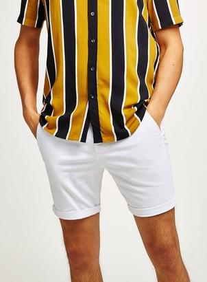 Topman White Stretch Skinny Chino Shorts