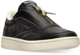 Reebok Women's Club C Zip Casual Sneakers from Finish Line $99.99 thestylecure.com