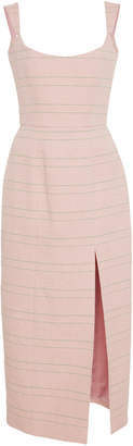 Markarian Striped Corset Midi Dress