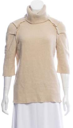 Marc Jacobs Wool & Cashmere Blend Ruffle Sweater Tan Wool & Cashmere Blend Ruffle Sweater