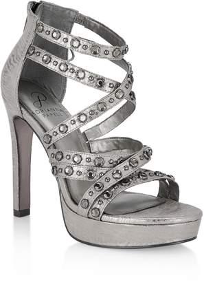 Adrianna Papell Malia Crystal Embellished Platform Sandal