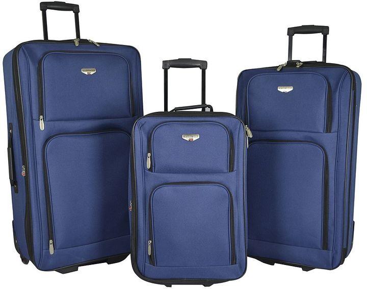 Travelers Club Value 3-Piece Wheeled Luggage Set