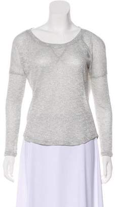 Splendid Metallic Long Sleeve Top