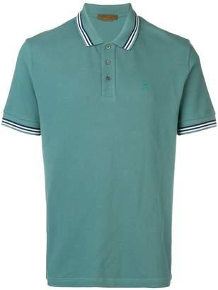 Corneliani striped collar polo shirt