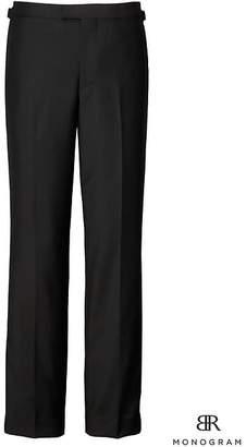 Banana Republic Monogram Slim Italian Wool-Mohair Tuxedo Pant