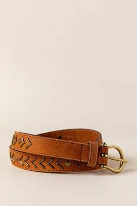 francesca's Francescas Myra Metal Leather Belt in Cognac - Cognac
