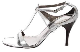 Donald J Pliner Metallic Leather Sandals