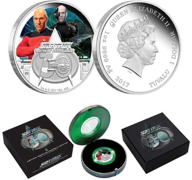 2017 Star Trek: The Next Generation Captain Picard/Locutus of Borg 1 oz. Silver Coin