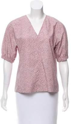 Cos Printed Short Sleeve Top