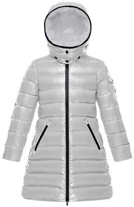 Moncler Moka Quilted Puffer Coat w/ Hood, Size 4-6
