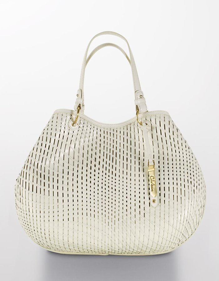 Cole Haan Eve Soft Woven Leather Tote