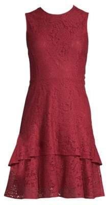 MICHAEL Michael Kors Floral Lace Double Flounce Sheath Dress