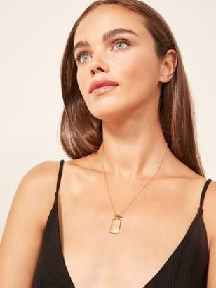 Reformation Soko Rectangle Medallion Necklace