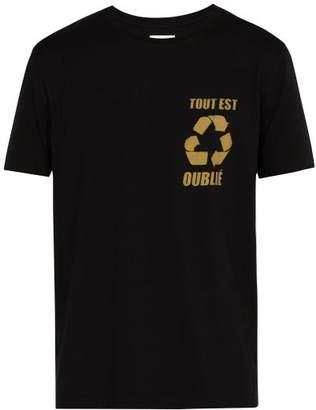 Faith Connexion Logo Print Cotton T Shirt - Mens - Black