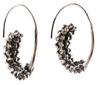 Tom Binns Studded Hoop Earrings Silver Studded Hoop Earrings