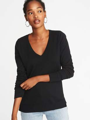 Old Navy Classic Marled V-Neck Sweater for Women